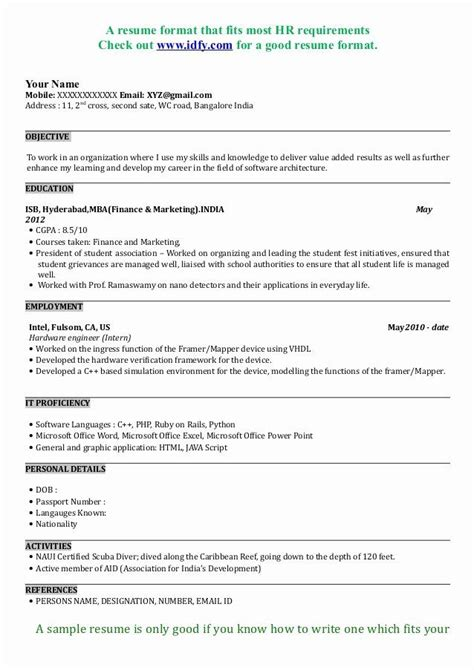mba application resume examples   resume format