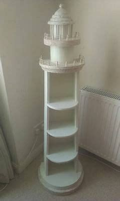 nautical lighthouse shaped bookcase shelves wooden white