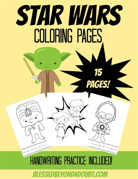 May the 4th Be With You {Star Wars} Coloring Pages ...