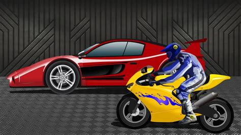 Kinds Of Race Cars by Sports Car Vs Sports Bike Race Racing
