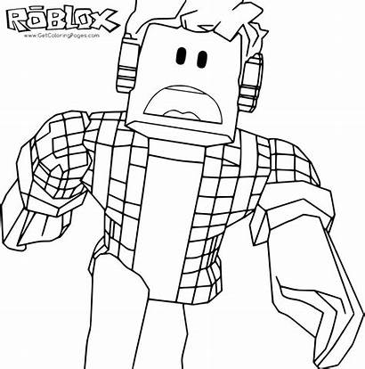 Roblox Coloring Pages Printable Games Screen Screenshot