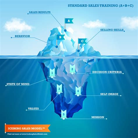 iceberg sales model north american sales training corp