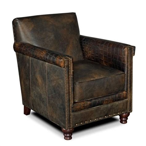 hooker furniture  seas leather club chair