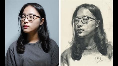 portrait drawing demonstration photo reference youtube