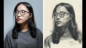 Portrait Drawing Demonstration Photo Reference