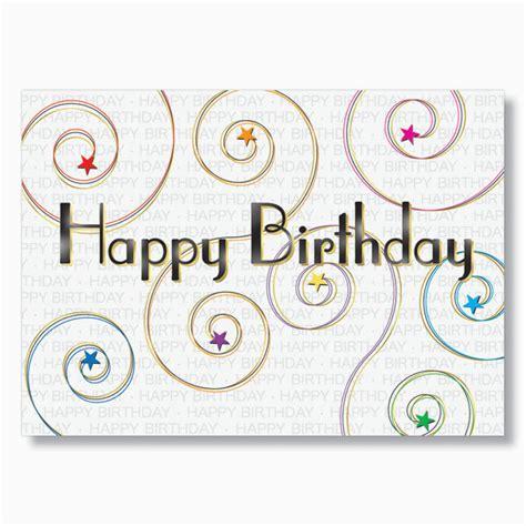 executive birthday cards starry swirls happy birthday