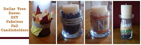 dollar tree fall decor decorate  autumn candles