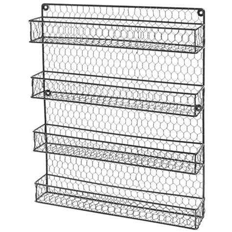 Wire Spice Rack Organizer by 4 Tier Black Wire Pantry Cabinet Or Wall Mounted Spice