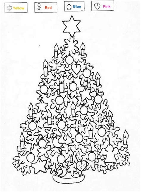 toy color by number coloring pages christmas tree