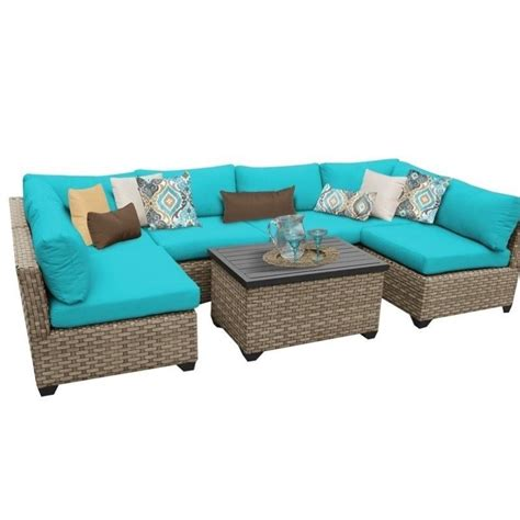 tkc monterey 7 outdoor wicker sofa set in aruba