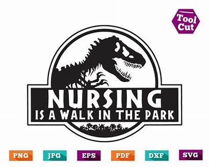 Walk Svg Park Nursing Nurse Jurassic Dinosaur