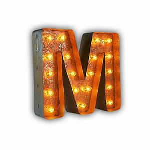 rusty 12 inch letter m marquee light by vintage marquee lights With marquee letter lights