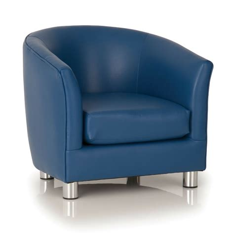 Tub Chair by Deluxe Blue Tub Chair Armchair Office Lounge