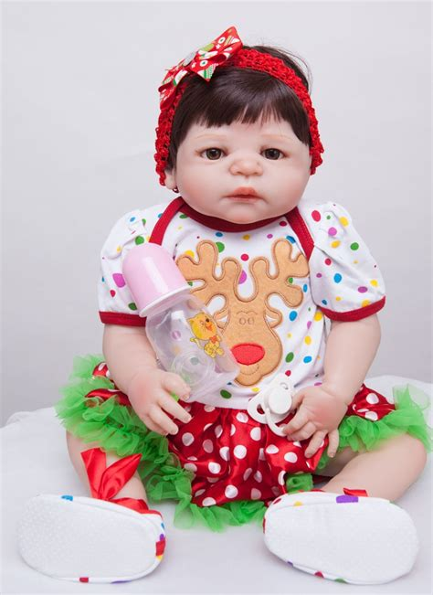 55cm Full Silicone Reborn Baby Doll Toys For Kids Newborn