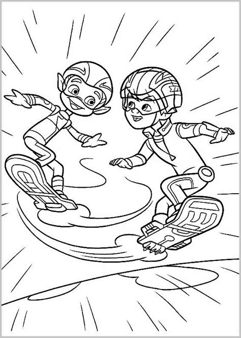 miles  tomorrowland coloring pages    print