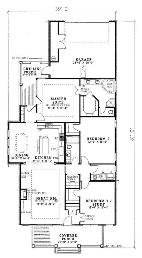 House Plan 82017 Country Style with 1832 Sq Ft 3 Bed 2