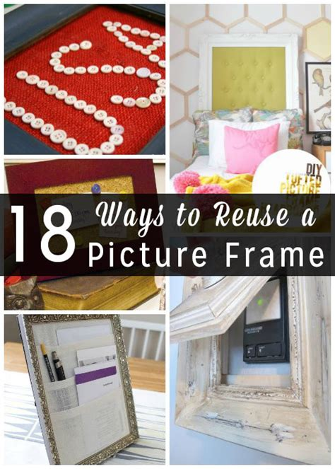 Transform a thrift store find into stylish (and helpful) decor. Empty Picture Frame Crafts: 18 Ways to Upcycle a Frame