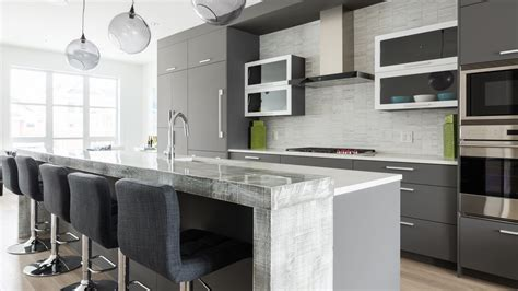 Contemporary Kitchen Furniture by Grey Kitchen Cabinets Ateliers Jacob Calgary