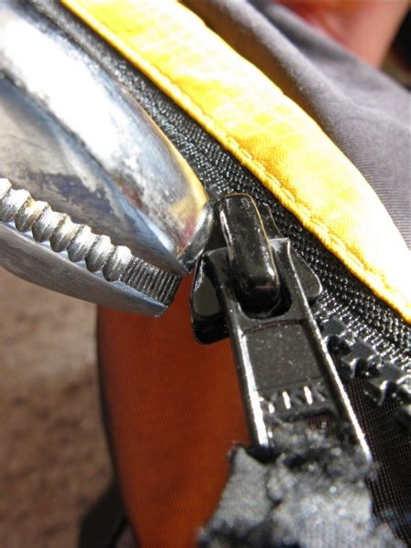 zipper broken emergency fix paddlinglight quick