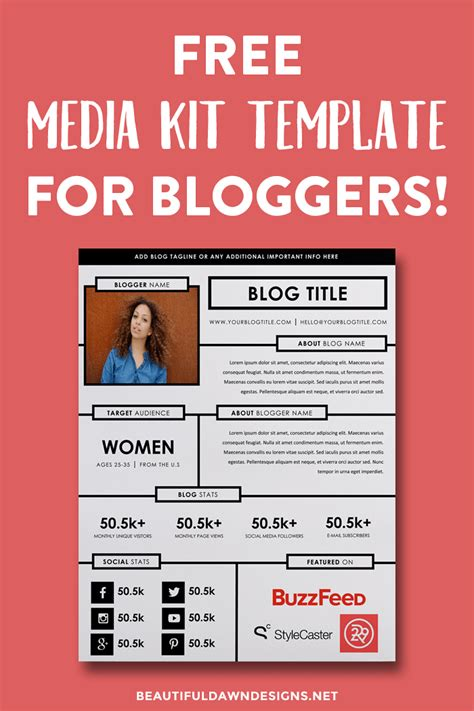 media kit template free blogging resources beautiful designs