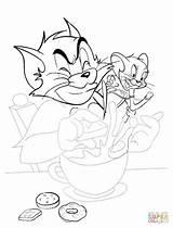 Coloring Breakfast Cooking Printable Jerry Tom Cartoon Sleeping Supercoloring Crafts Printables Getdrawings Drawing Categories sketch template