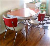 Dining Table Set Under 50 by My New Retro Atomic 50s Dinette Set