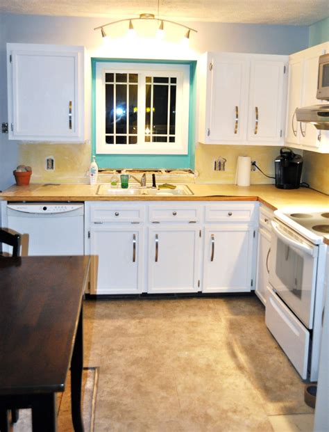 white cabinets with wood countertops homeofficedecoration white kitchen interior with wooden