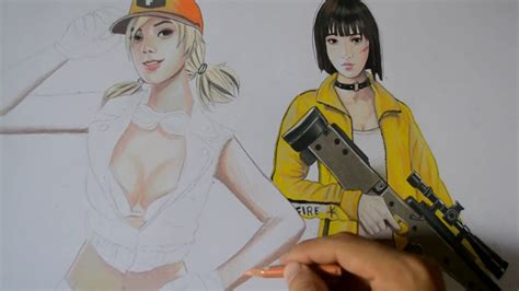Asi se enamora una chica en free fire *sígame para más consejos*. Dibujos De Free Fire A Lapiz De Maxim - Chicas Española