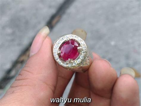 batu cincin ruby merah delima asli kode 798 wahyu mulia