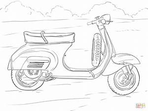 Scooter coloring page | Free Printable Coloring Pages