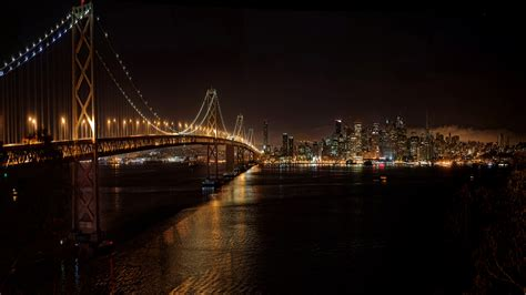San Francisco Christmas Wallpaper San Francisco Oakland Bay Bridge And Downtown San Fra 98230079 Wallpapers13 Com