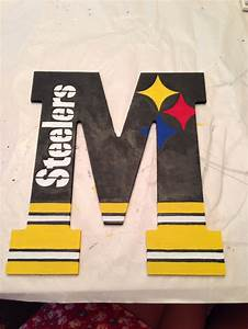 17 best images about sporty craft ideas on pinterest With pittsburgh steelers letters