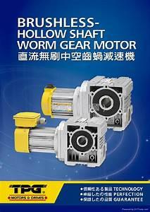 Tpg Brushless Hollow Shaft Worm Gear Motor