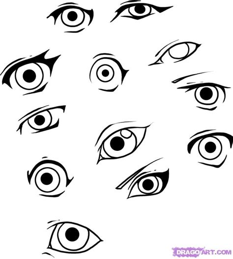 draw simple eyes step  step eyes people