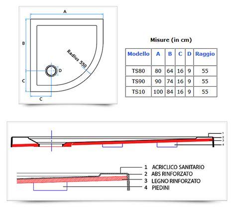 Vasche Angolari Dwg by Piatto Doccia Semicircolare Angolare Ultraflat In Acrilico