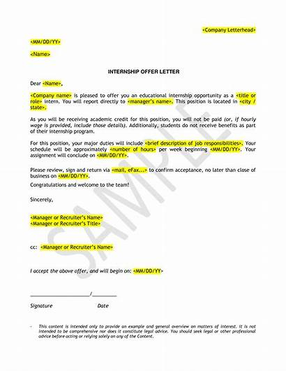 Letter Offer Internship Salary Without Template Counter