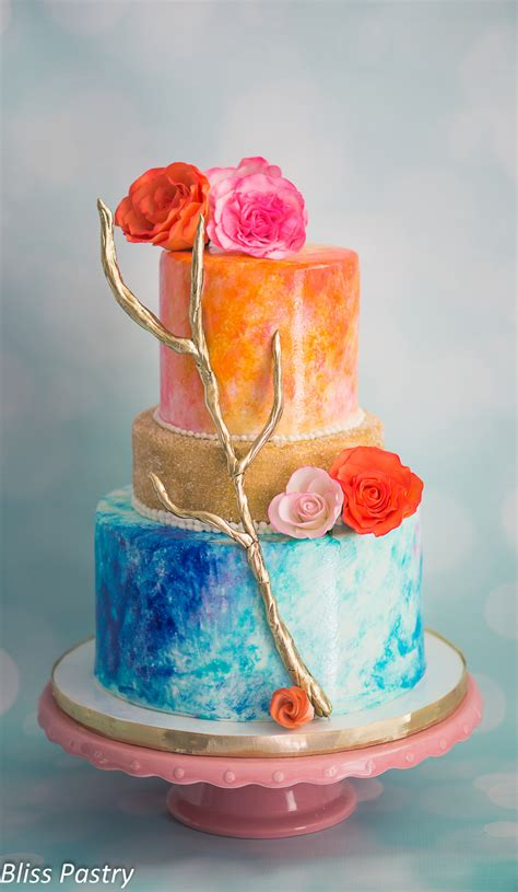 water color cake watercolor wedding cake cakecentral