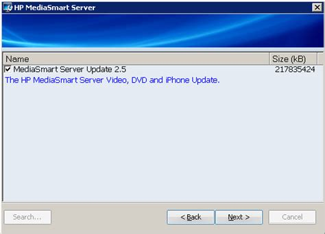contacting the iphone software update server hp mediasmart server video dvd and iphone update Conta