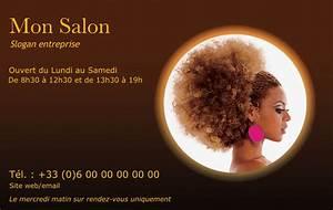 Carte De Visite Original : carte de visite coiffure africaine mod le gratuit et original imprimer ~ Melissatoandfro.com Idées de Décoration
