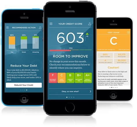 Credit card app satisfaction, with a score. Mobile Credit App - Free Credit Score & Monitoring   Credit.com