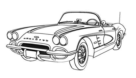 Cool Car Drawings Corvette