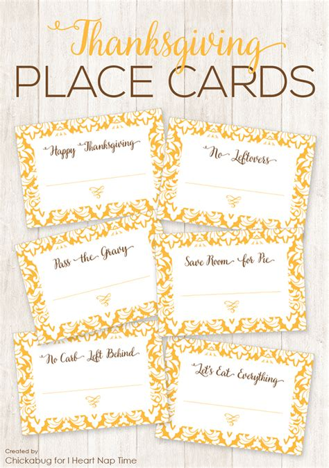template  thanksgiving place cards festival