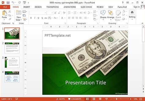 Money Powerpoint Template by Free Money Powerpoint Templates