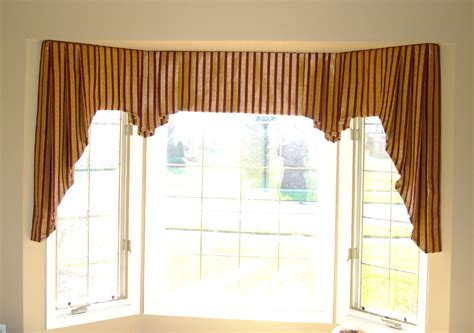valance bay window floral pattern valance combined white window treatment