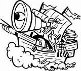 Pirate Spyglass Giant Ship Kidsplaycolor sketch template