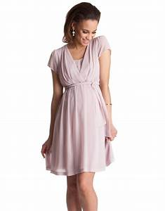 blush pink pleated maternity nursing dress seraphine With robe allaitement cérémonie