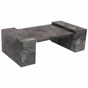muller faux marble stone coffee table hand painted lacquer With white and grey marble coffee table