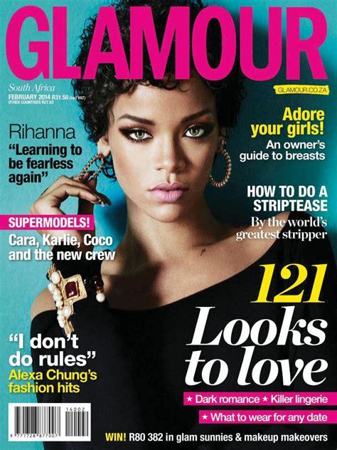 RIHANNA in Glamour Magazine, South Africa February 2014 ...