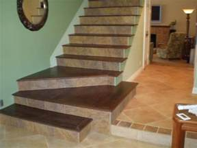 tile wood stairs diy projects