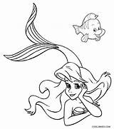 Mermaid Coloring Pages Ariel Printable Drawing Cool2bkids Eric Tail Mermaids Colouring Disney Simple Getdrawings Barbie Getcolorings Cartoon Flounder Children Books sketch template